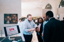 CEO of I AM APP networking with delegates