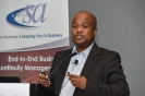 Business Continuity speaker, Sehume Motswenyane senior manager: CyberSecurity, EY Advisory Services