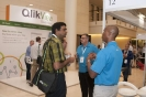Delegates networking with display sponsor ,Slipstream