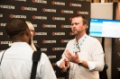 Kyocera representative networking with a delegate