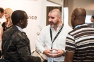 Redstor representative networking with delegates