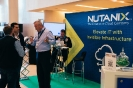 Delegates networking at the Nutanix stand