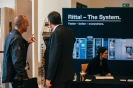 delegates networking at the Rittal stand