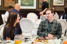 Delegates networking during breakfast