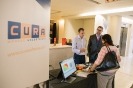 Delegates networking at CURA Software display area