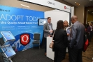 Delegates networking at the Qualys stand