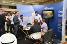 Delegates networking at the Symantec stand