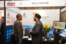 Delegates networking at the Atio | Tripwire  stand