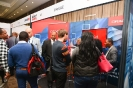 Delegates networking at the Oracle stand