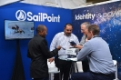 Delegates networking at the SailPoint stand