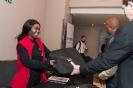 Delegates recieving the CISCO delegate bags