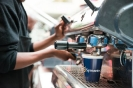 Coffee bar sponsored by Symantec