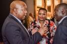 Aaron Mokobaki networking with delegates