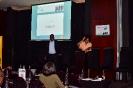 Mandla Mkhwanazi, Digital Business Leader, Transnet Group and Event  MC on stage