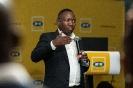 Mandla Mkhwanazi presenting