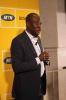 David Mphelo presenting