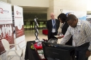 Delegates viewing sponsor stand
