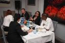 Delegates networking during dinner