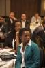 Delegates listening attentively