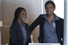 Charmaine Mpofu and Lerato Mathize at the registration desk
