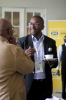 Delegates networking over coffee
