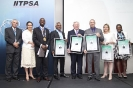 The five top finalists for the Visionary CIO of the year award accept their awards