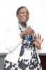 Tshifhiwa Ramuthaga winner of the Visionary CIO of Year Award making her acceptance speech