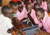 Students in Kakuma refugee camp in Kenya using tablets from Instant Classroom. (Photo by David Muya, UNHCR)