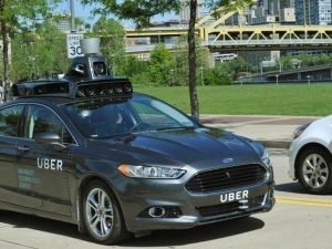 Uber is testing a self-driving hybrid Ford Focus on the streets of Pittsburgh, Pennsylvania. (Picture: Uber)