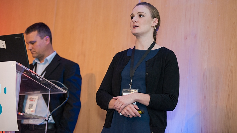 Tiaan van Schalkwyk and Samantha Buchler, Deloitte.