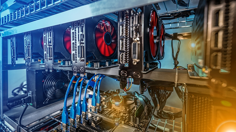 Pirated software fuels crypto-currency mining.